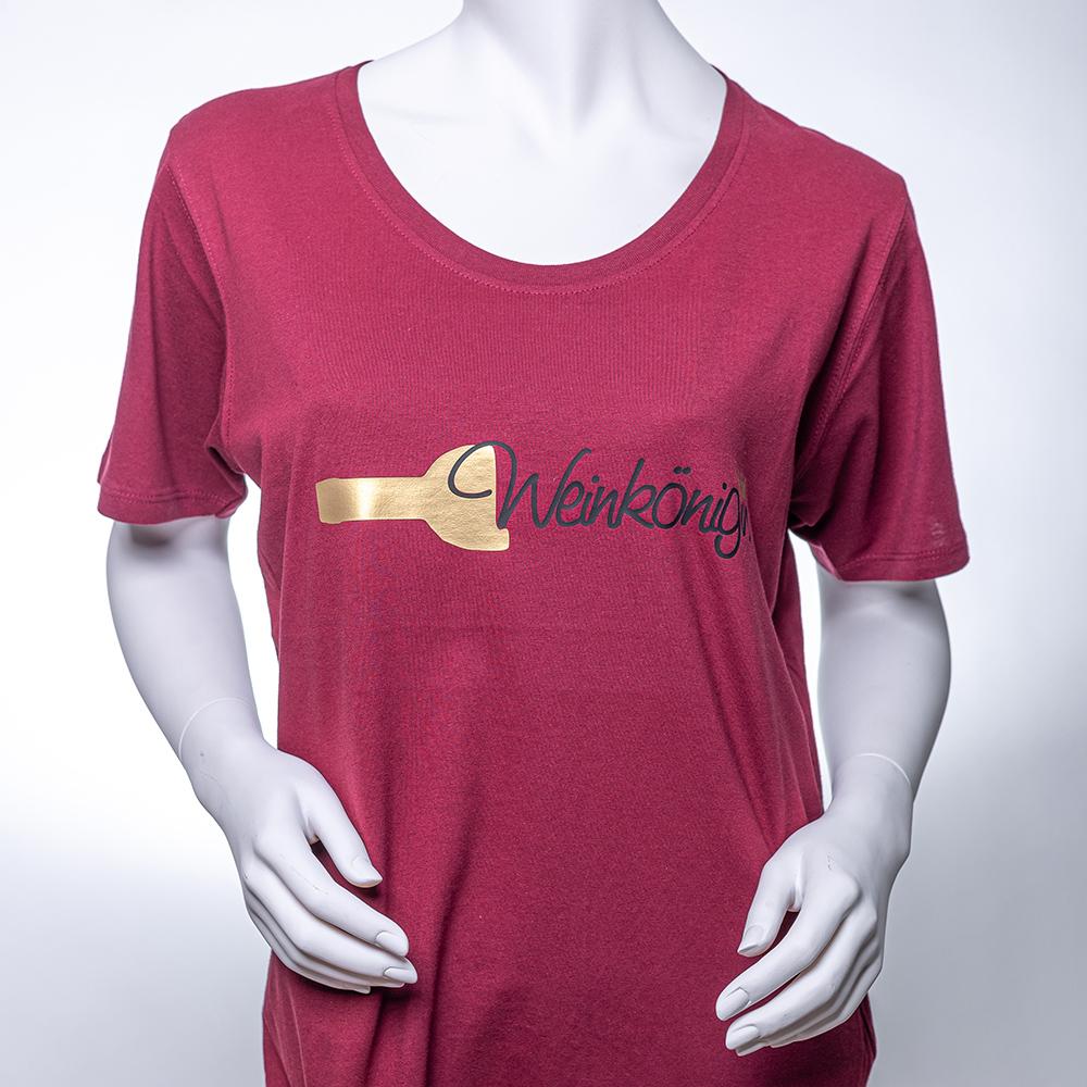Frauen T-Shirt WEINROT / Spruch: Weinkönigin