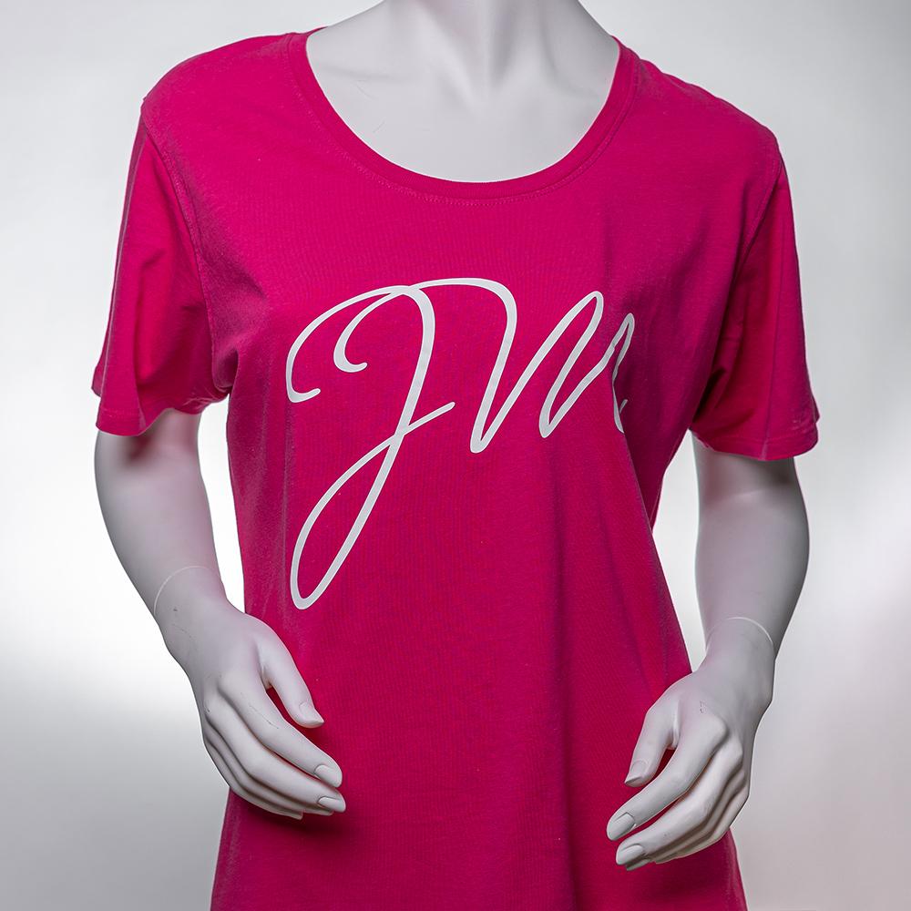 Frauen T-Shirt PINK / mit Initialen