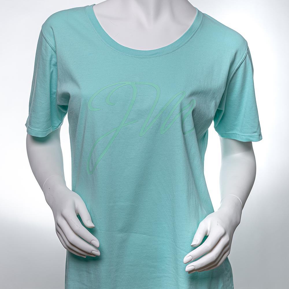 Frauen T-Shirt MINT / Initialen