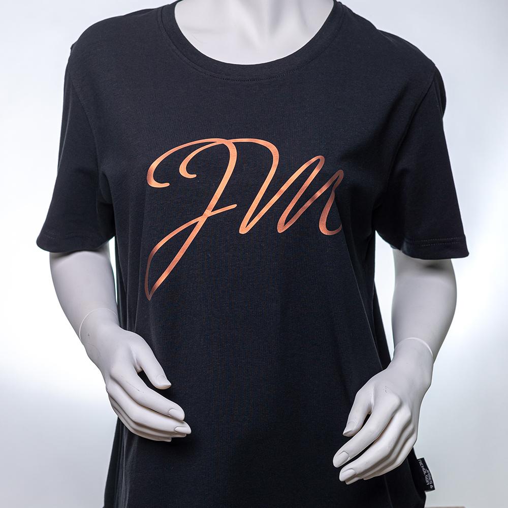 Frauen T-Shirt SCHWAR / Initialen